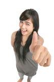 Great thumb up. High angle Royalty Free Stock Photo