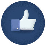 Great thumb upward Stock Image