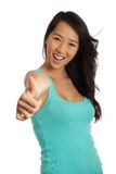 Great! Thumbs up Royalty Free Stock Photography