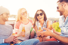 Great time with friends. Royalty Free Stock Photos