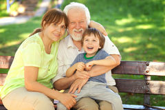 Great time with grandparents Royalty Free Stock Photo