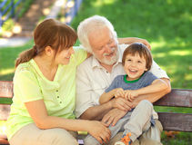 Great time with grandparents Stock Image