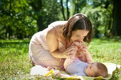 Great time - happy mother with child Royalty Free Stock Image