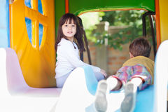 Great time in the playground Royalty Free Stock Images