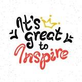 It is great to inspire scribble handwritten design Stock Images