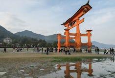 The great Torii of Itsukushima Shrine Stock Photos