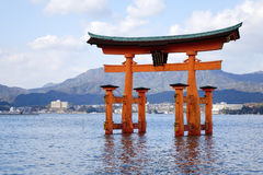 Great Torii at Miyajima island, Japan Royalty Free Stock Photography