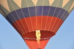 The great tourist attraction of Cappadocia - balloon flight. Cap. Hill, beauty. stock photo