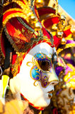 Great traditional venetian mask Royalty Free Stock Image