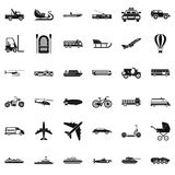 Great transport icons set, simple style Royalty Free Stock Photo