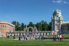 Great Tsaritsyn Palace in museum-reserve Tsaritsyno. MOSCOW, RUSSIA - JUNE 16, 2018: Great Tsaritsyn Palace in museum-reserve Tsaritsyno stock photo
