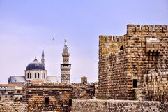 Great Umayyad mosque and castle of Damascus Royalty Free Stock Photos