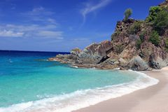 St. Barts Beach. Great vacation time with sunshine and calm waters on St. Barts Beach stock image
