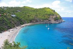 St. Barts Beach. Great vacation time with sunshine and calm waters on St. Barts Beach royalty free stock photos
