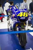 Parked Valentino Rossi`s motorbike in Milan EICMA Expo 2019 royalty free stock images