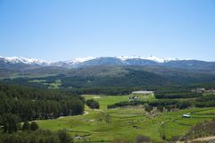 Great valley at gredos mountains Stock Photos