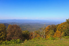 The Great Valley in VA. The Great Valley in Virginia from the Blue Ridge Parkway in the fall royalty free stock photos