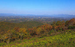 The Great Valley. In Virginia from the Blue Ridge Parkway in the fall royalty free stock photo
