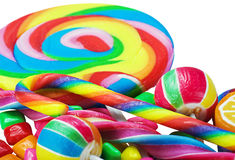 Great variety of colorful candy Stock Photos