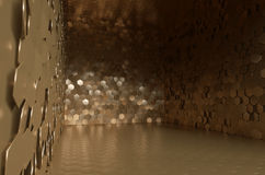 Great vault full of golden plates Stock Images