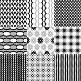 9 Great vector patterns. Set of seamless  patterns. Minimalism Royalty Free Stock Photo