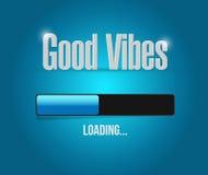 great vibes loading bar illustration design Stock Images