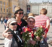 Great Victory Day in Moscow Royalty Free Stock Image