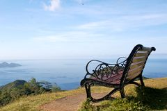 Great view. The view from the one of the Mahe island mountains royalty free stock photography