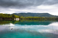 Great view of Banyoles Lake, Girona Stock Photo