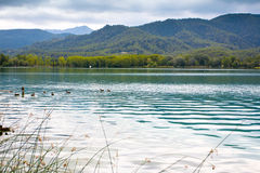 Great view of Banyoles Lake, Girona Royalty Free Stock Image