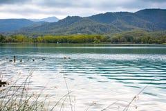 Great view of Banyoles Lake, Girona Royalty Free Stock Image