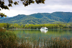 Great view of Banyoles Lake, Girona. Royalty Free Stock Photography