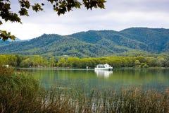 Great view of Banyoles Lake, Girona. Royalty Free Stock Photography