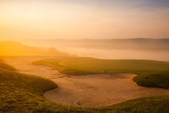 Great view at the beautiful golf course Stock Image