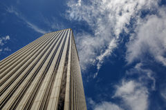 Great view from below of a white business building Royalty Free Stock Photography