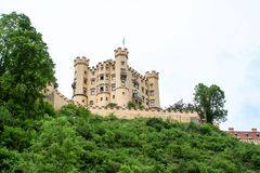 Great view of a castle in bavaria. A great view of a castle in bavaria stock image