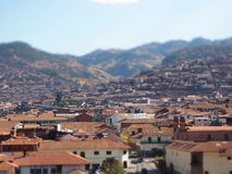 Great View of the City of Cusco in Peru Royalty Free Stock Photo