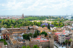 Great view of the city of Seville Royalty Free Stock Images