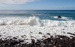 Great view with crashed waves by the sea. A great view with crashed waves by the sea royalty free stock images
