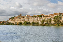 Great view of the Duero River and part of Zamora, Spain, Via de Stock Photography
