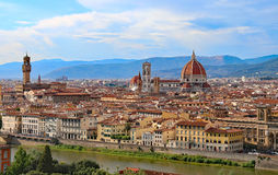 Great view of Florence in Italy with the dome of the Duomo Stock Photos