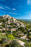 Great view of Gordes village and sorroundings in France. Great view of Gordes village and sorroundings - France Vertical Stock Photography