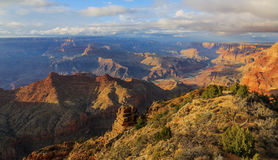 Great view of Grand Canyon from South Rim, Arizona, US Royalty Free Stock Photos