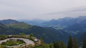 Great view. A great view over the mountains from austria royalty free stock image