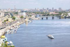 Great view in Kiev Stock Photo