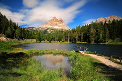 Great view of the Lago Di Antorno in National Park Stock Photo