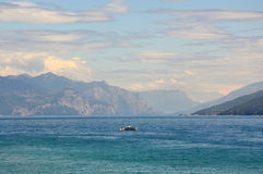 Great view of Lake Garda from Sirmione beach, Italy Stock Images