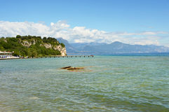 Great view of Lake Garda from Sirmione beach, Italy Stock Photography