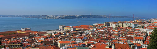 Great view of Lisbon from a hill Stock Photo