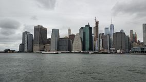 The great view of Manhattan. From Brooklyn district of New York royalty free stock photo